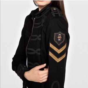 Pam & Gela Black Calvary twill Jacket